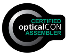 Neutrik Certified OpticalCON Assembler logo